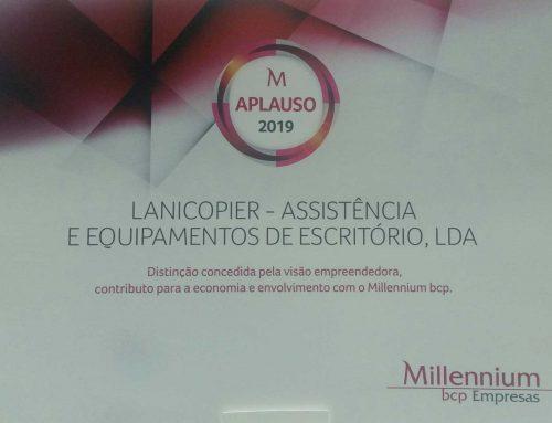 """4º Ano consecutivo – """"CLIENTE APLAUSO"""" atribuído pelo Millennium BCP."""